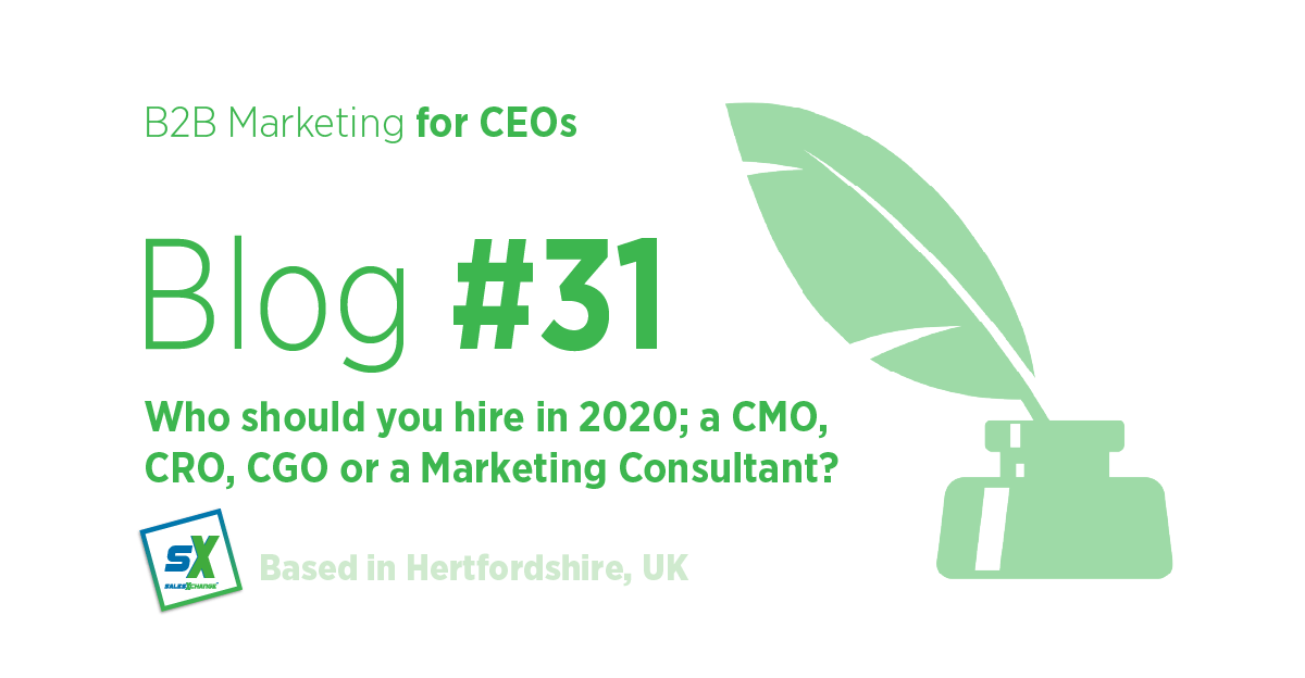 31 Who should you hire in 2020 cmo or consultant