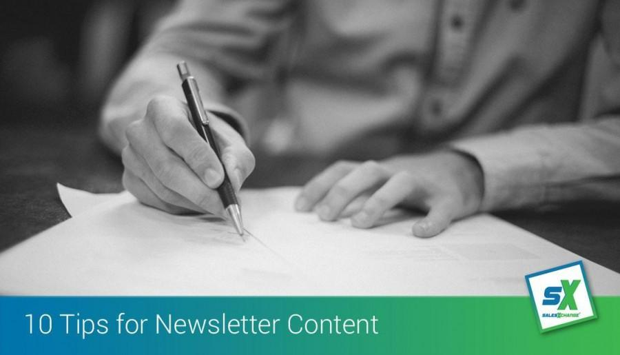 Ten Tips for Preparing Regular Content for Newsletters