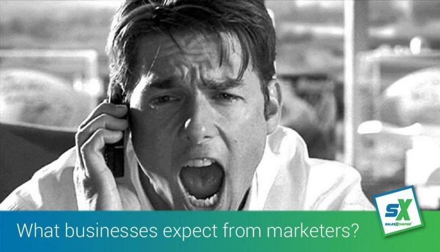 What do businesses expect from B2B marketers in today's economy?